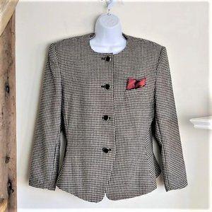 Le Suit Houndstooth Blazer 14